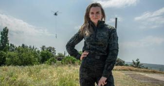 Соломія Бобровська під час військових навчань