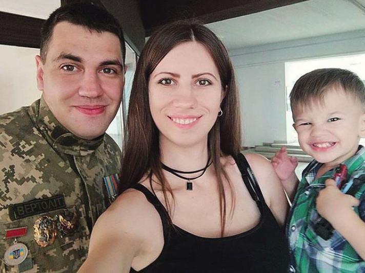 Іван Лепеха з дружиною і сином