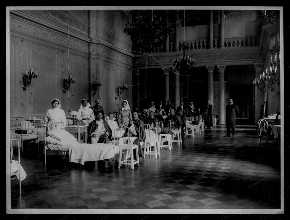 Поранені та лікарі, Рівне, невідоме місце, 1914 р.
