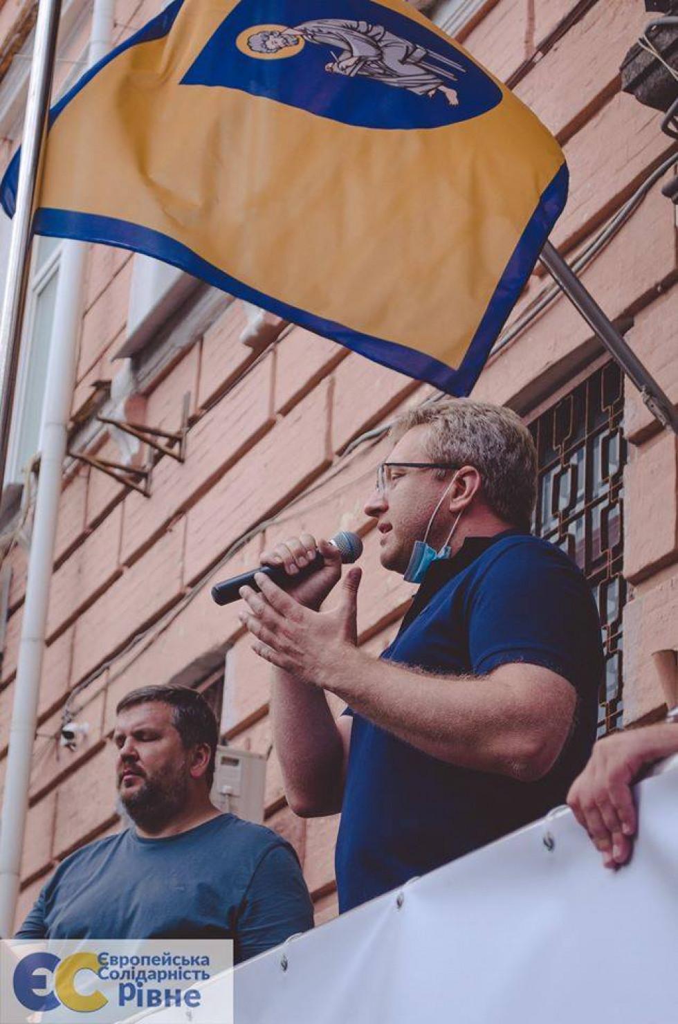 Віталій Гайдукевич. Фото зі сторінки Європейської Солідарності. Рівне у фейсбуці
