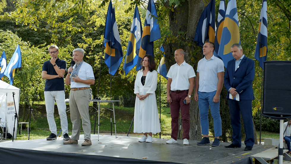 Валерій Гусак на презентації кандидатів до Рівненської міської ради від Європейської Солідарності